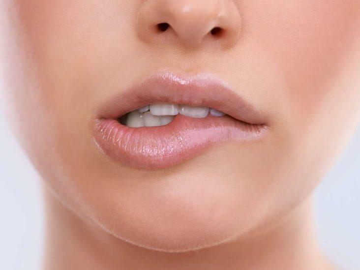 Sucking lip Lip Sucking