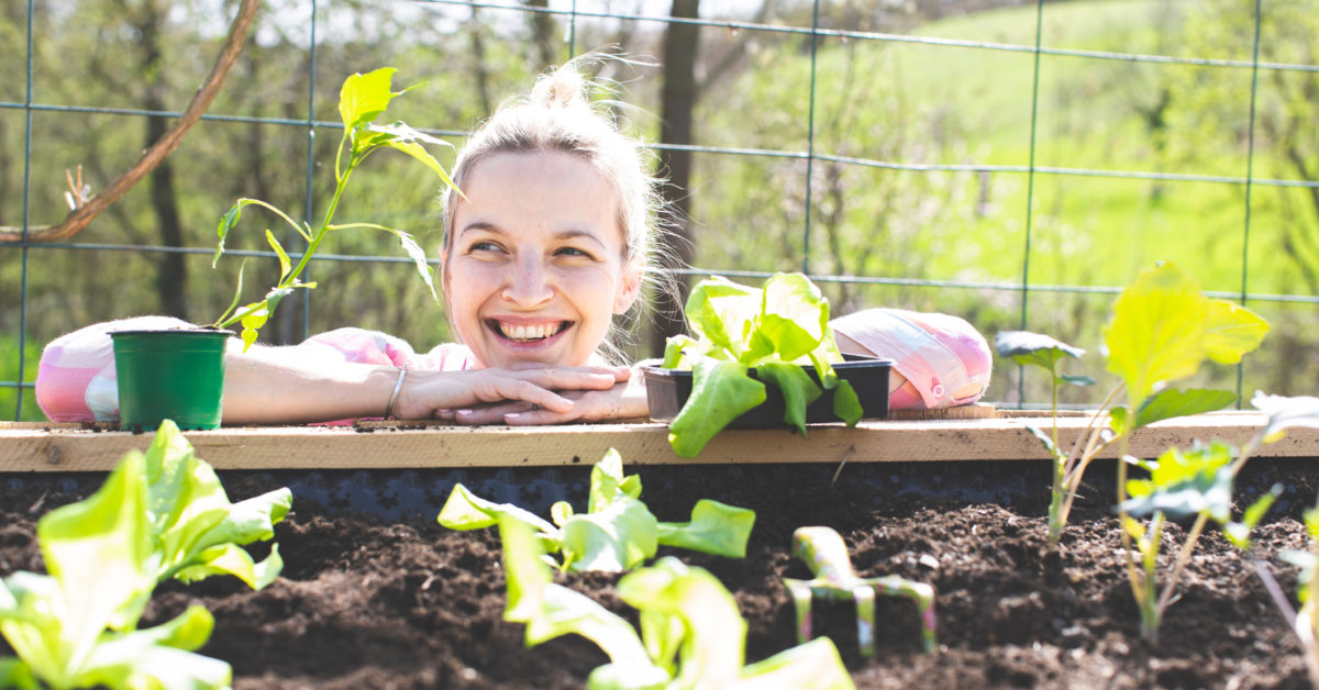 Health and well-being improved by spending time in the garden